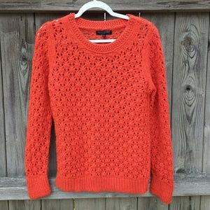 Banana Republic Red Open Weave Sweater